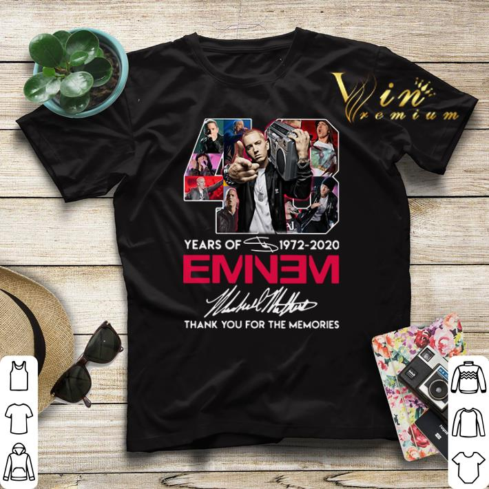 48 years of 1972 2020 Eminem signature thank you for the memories shirt sweater 4 - 48 years of 1972 2020 Eminem signature thank you for the memories shirt sweater