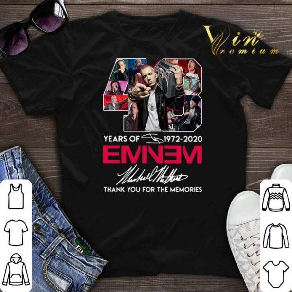 48 years of 1972-2020 Eminem signatures shirt sweater
