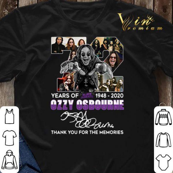 72 years of Black Sabbath 1948-2020 Ozzy Osbourne signature shirt