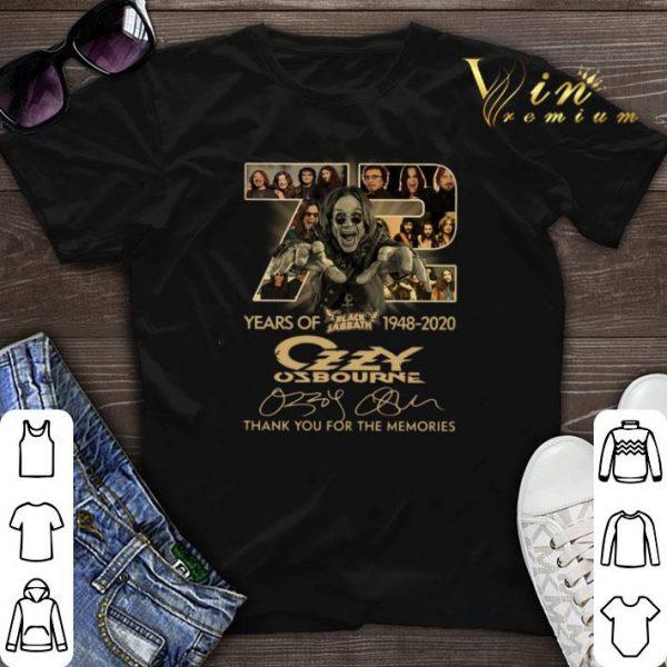 72 years of Black Sabbath 1948-2020 Ozzy Osbourne signatures shirt