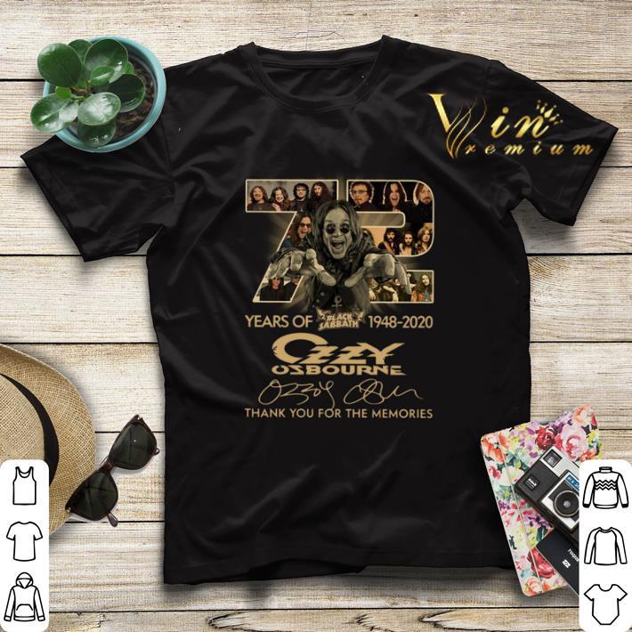72 years of Black Sabbath 1948 2020 Ozzy Osbourne signatures shirt 4 - 72 years of Black Sabbath 1948-2020 Ozzy Osbourne signatures shirt