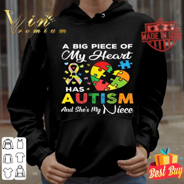 A Big Piece Of My Heart Has Autism and She's My Niece Gift shirt