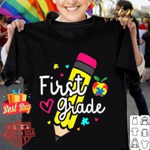Autism 1st Grade Teacher Back to School First Day Girl shirt
