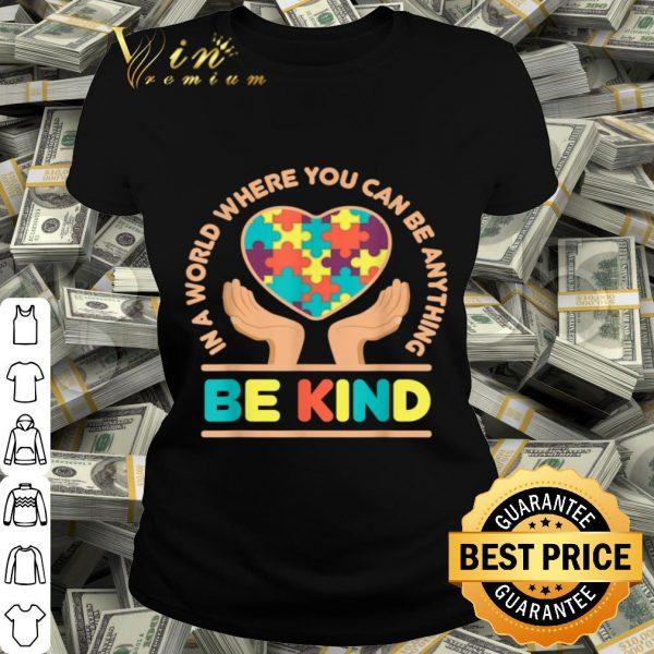 Autism Awareness Be Kind Kindness Colors Art Puzzle Ribbon shirt