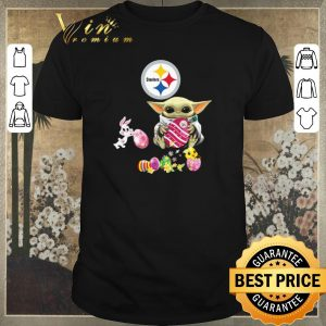 Awesome Baby Yoda Hug Pittsburgh Steelers eggs Fertility at Easter shirt sweater
