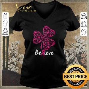Awesome Breast cancer Awareness believe shamrock St. Patrick's day shirt sweater