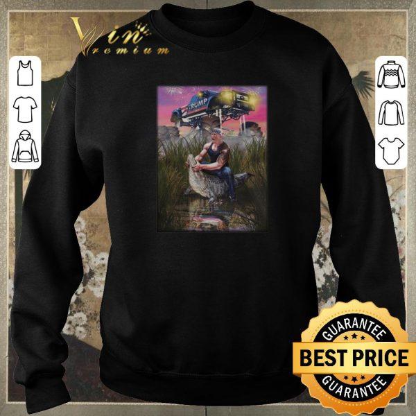 Awesome Donald Trump Gator Wrestling Crocodil Rambo shirt sweater