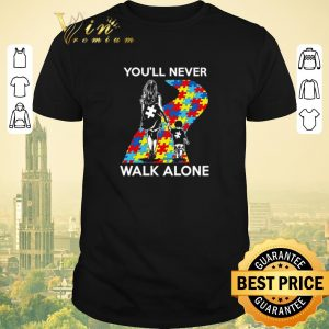 Awesome Mother and son You'll never walk alone Autism road shirt sweater