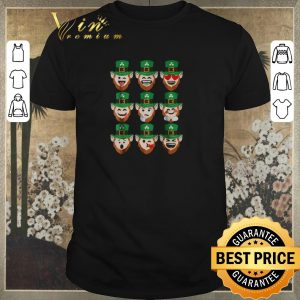 Awesome St. Patrick Day Emoji Leprechaun Faces shirt sweater