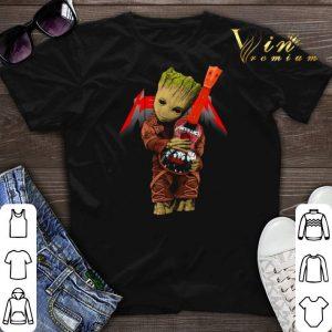 Baby Groot hug logo Metallica Guitarist shirt sweater
