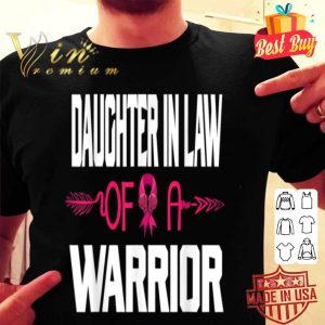 Breast Cancer Mother In Law Daughter In Law Warrior shirt