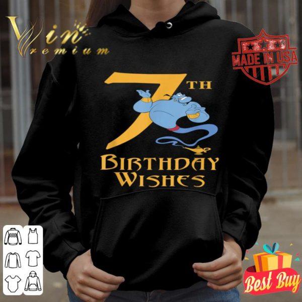 Disney Aladdin Genie 7th Birthday Wishes shirt