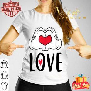 Disney Girls Mickey Mouse Heart Hands Hoodie