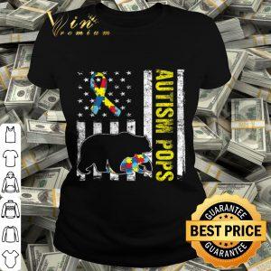 Distressed Bear Autism Pops USA Flag Autism Awareness shirt