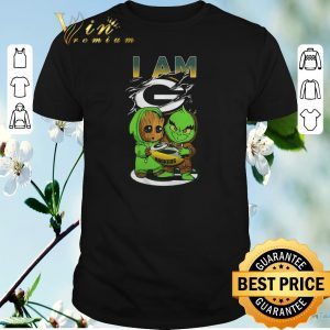 Funny Baby Groot And Grinch I Am Green Bay Packers Logo shirt sweater