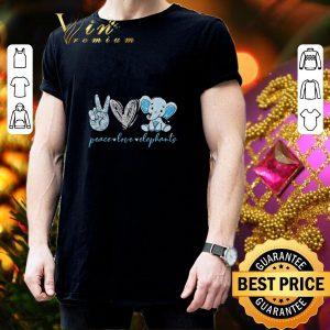 Funny Peace love elephants shirt 2