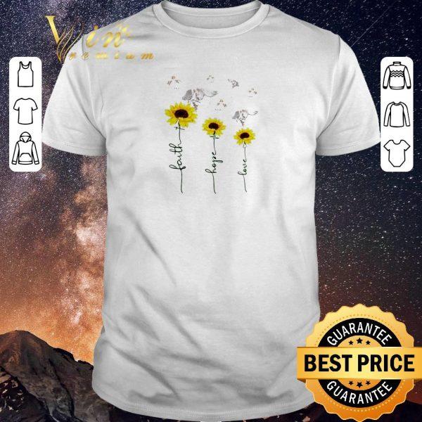 Funny Sunflower angel faith hope love shirt sweater