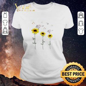 Funny Sunflower angel faith hope love shirt sweater