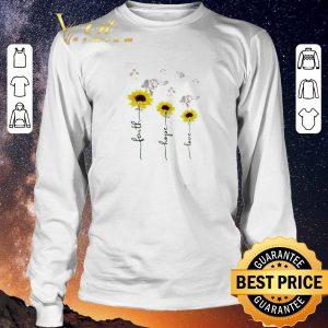 Funny Sunflower angel faith hope love shirt sweater 2
