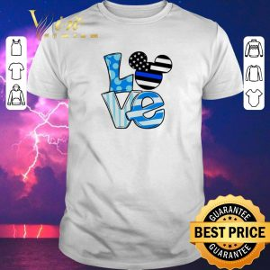 Hot Love Mickey Mouse Thin Blue Line shirt sweater