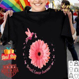 Hummingbird Sunflower Pink Ribbon Breast Cancer Awareness shirt