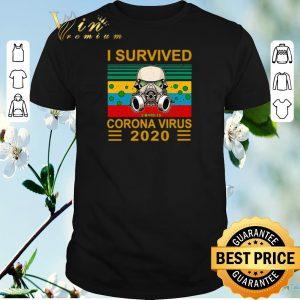 I survived corona virus 2020 vintage face gas mask shirt sweater