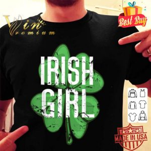Irish Girl Shamrock Clover St Patrick's Day Vintage T-shirt