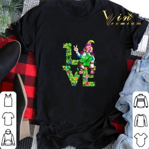 Love Hippie Gnome Happy St Patrick's Day shirt sweater