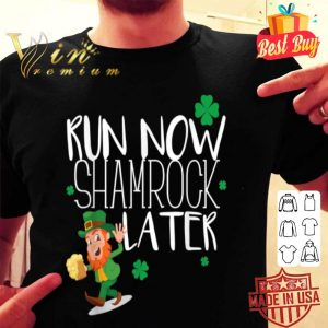 Marathon Running St Patricks Day Funny Race 5k Runner Gift T-shirt