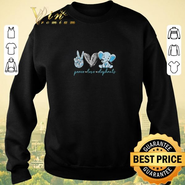 Nice Peace love elephants shirt sweater