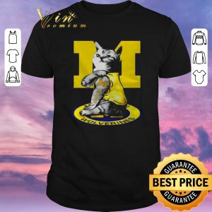 Nice Strong Cat tattoo Michigan Wolverines shirt sweater