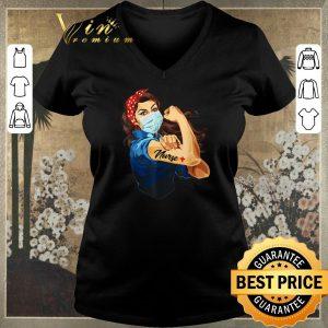 Nice Strong woman tattoos Nurse Covid-19 shirt sweater