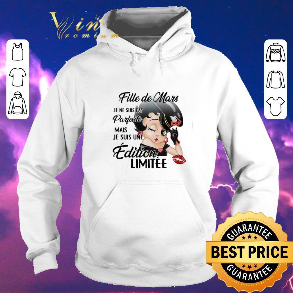 Official Betty Boop Fille de Mars Je Ne Suis Pas Parfaite Mais Je Suis shirt sweater 4 - Official Betty Boop Fille de Mars Je Ne Suis Pas Parfaite Mais Je Suis shirt sweater