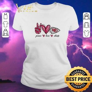 Official Peace Love Kansas City Chiefs logo shirt sweater 1