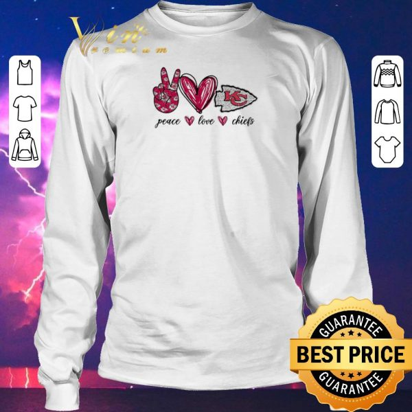 Official Peace Love Kansas City Chiefs logo shirt sweater