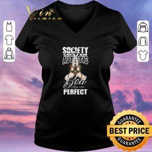 Premium Autism puzzle Society say i am autistic god says i am perfect shirt sweater