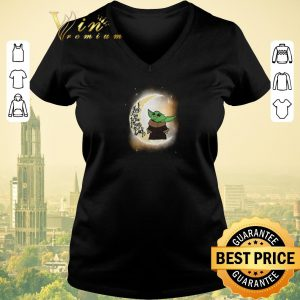Premium Baby yoda I love you to the moon and Back Star Wars shirt sweater 1