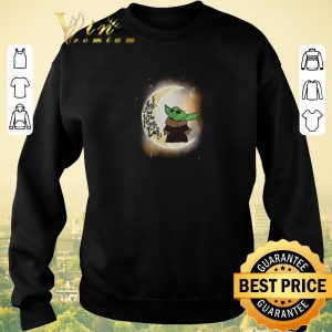 Premium Baby yoda I love you to the moon and Back Star Wars shirt sweater 2
