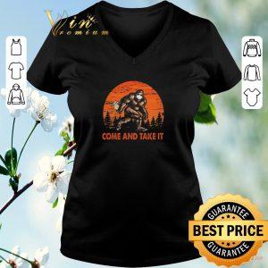 Premium Bigfoot Sasquatch Come And Take It Sunset Toilet Paper shirt sweater 1