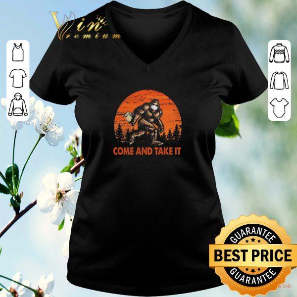 Premium Bigfoot Sasquatch Come And Take It Sunset Toilet Paper shirt sweater