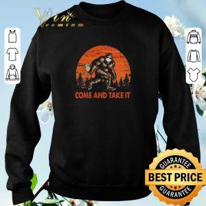 Premium Bigfoot Sasquatch Come And Take It Sunset Toilet Paper shirt sweater 2