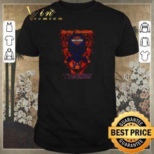 Premium Skull Motor Harley-Davidson Cycles and Auburn Tigers Logo shirt sweater
