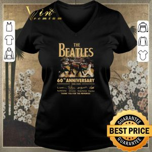 Premium The Beatles 60th anniversary 1960 2020 thank you for the memories signatures shirt sweater