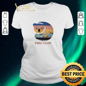 Pretty Koala Fire Fight Australia 2020 Retro Vintage shirt 1