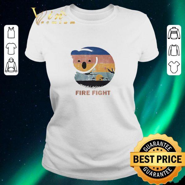 Pretty Koala Fire Fight Australia 2020 Retro Vintage shirt