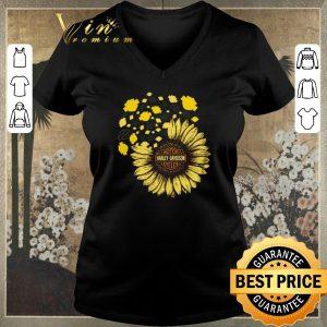 Pretty Motor Harley Davidson Cycles mashup Sunflower shirt sweater 1