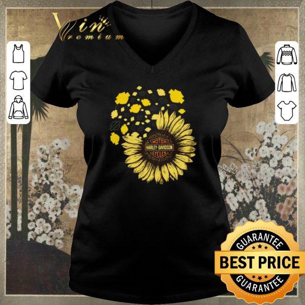 Pretty Motor Harley Davidson Cycles mashup Sunflower shirt sweater