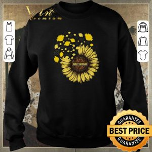 Pretty Motor Harley Davidson Cycles mashup Sunflower shirt sweater 2