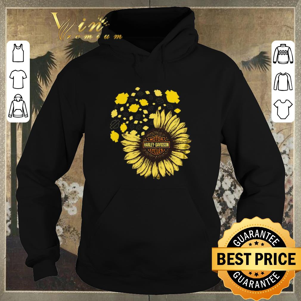 Pretty Motor Harley Davidson Cycles mashup Sunflower shirt sweater 4 - Pretty Motor Harley Davidson Cycles mashup Sunflower shirt sweater