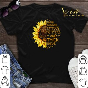 Skull Sunflower Leopard F-Bomb mom with tattoos pretty eyes and thick thighs shirt sweater